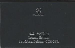 MERCEDES-AMG-CLK-GTR-Betriebsanleitung-1999-Limited-Edition-297-Handbuch-BA