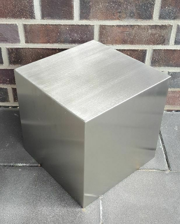 DekorationsQuader Würfel 40x40x40 cm Edelstahl matt gebürstet Dekoquader