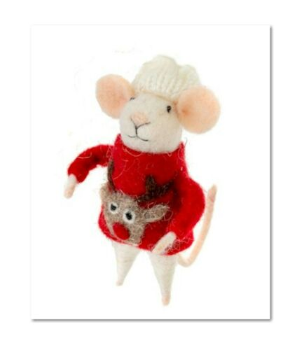 NEW FREE SHIPPING!!! Ugly Sweater Steve Mouse by Indaba Trading