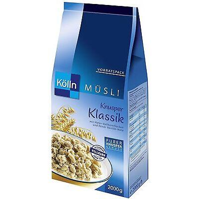(1000g=4,75€) Kölln Müsli Knusper Klassik - mit Vanille Knusperstückchen - 2 kg