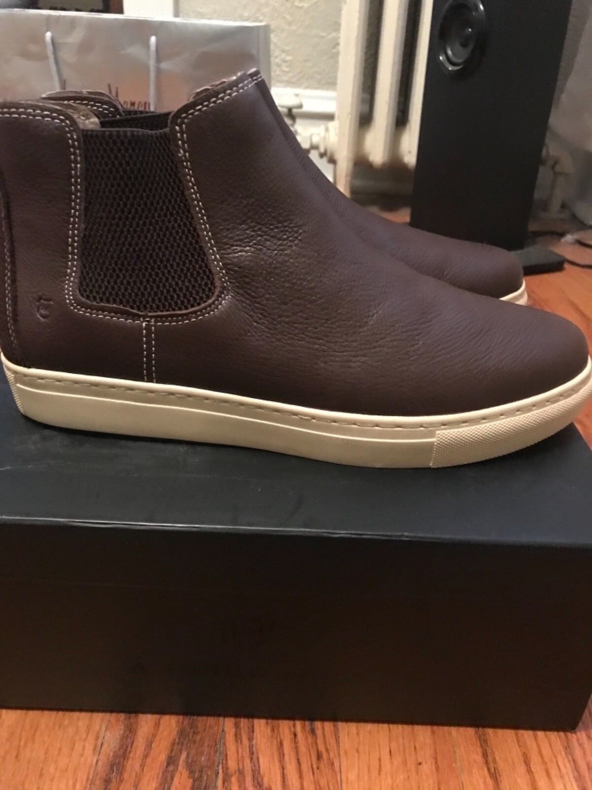*ONE OF A KIND*  Pelle Slip on  Boot Brown Andrew Marc Uomo sz 12M NIB