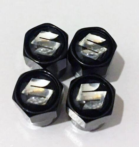 VITARA ALTO SWIFT JIMNY SX4 BLACK Suzuki Nero Ruota della valvola Polvere Tappi