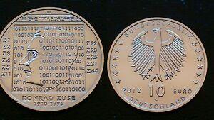GERMANY-10-EURO-2010-G-KONRAD-ZUSE-SILVER-COIN