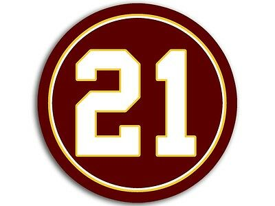 American Vinyl Round #21 Redskins Colors Sticker Decal Football Sean Taylor Twenty 21