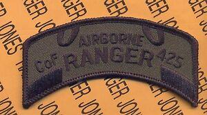 Co F 425th INFANTRY MI ARNG LRS AIRBORNE RANGER scroll patch Verzamelingen Militaria