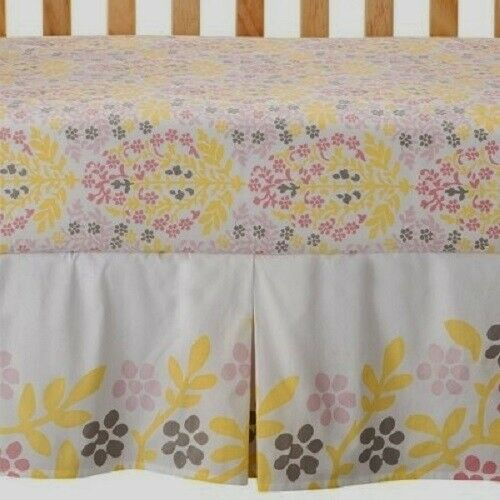 Room 365 Mandala Baby Girls Floral 3Pc Quilt Fitted Sheet Dust Ruffle Crib Set