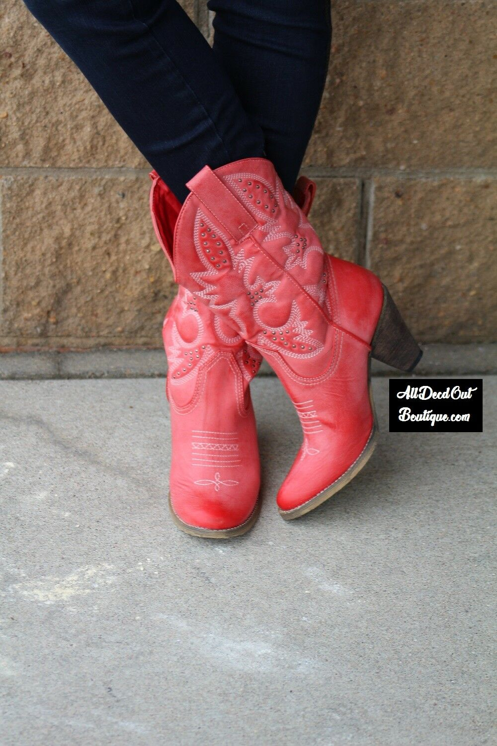 Very Volatile   Denver Cowgirl Boots Red