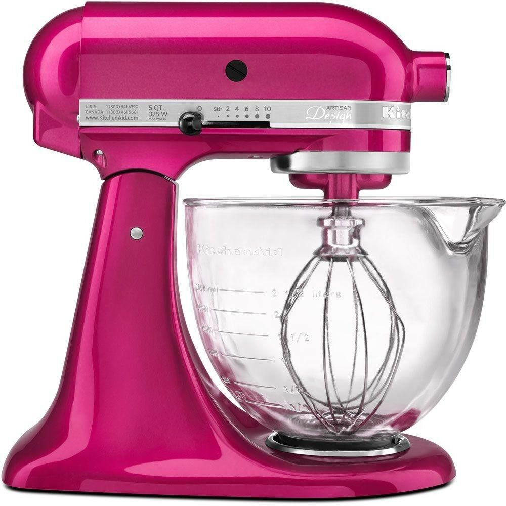 KitchenAid Stand Mixer Artisan Designer 5Qt Raspberry Ice Multi Purpose 10 Speed