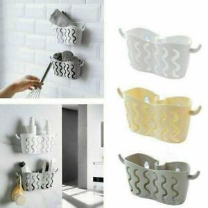 Kitchen-Bathroom-Sponge-Sink-Tidy-Holder-Strainer-Suction-Organizer-Small-Basket