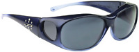 Jonathan Paul Polarized Sunglasses Fit-overs Element Sapphire Grey Medium