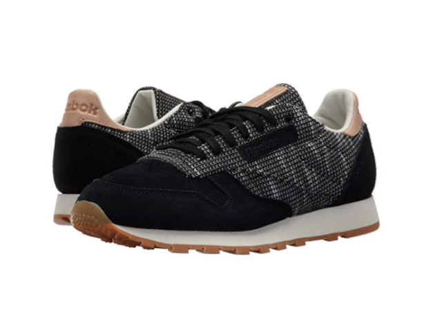 REEBOK BS6236 CL LEATHER EBK Mn's (M) BlackStark Grey Suede Lifestyle Shoes