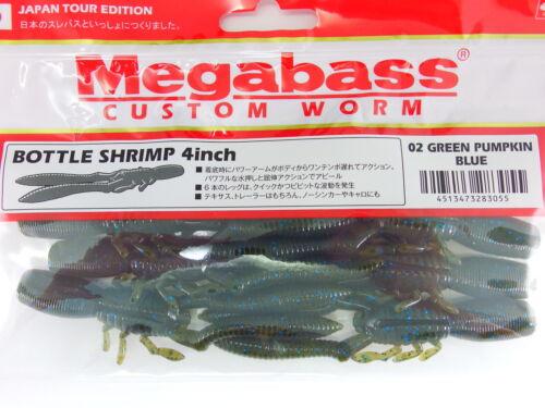 "BOTTLE SHRIMP 4/"" #02 GREEN PUMPKIN BLUE Megabass"