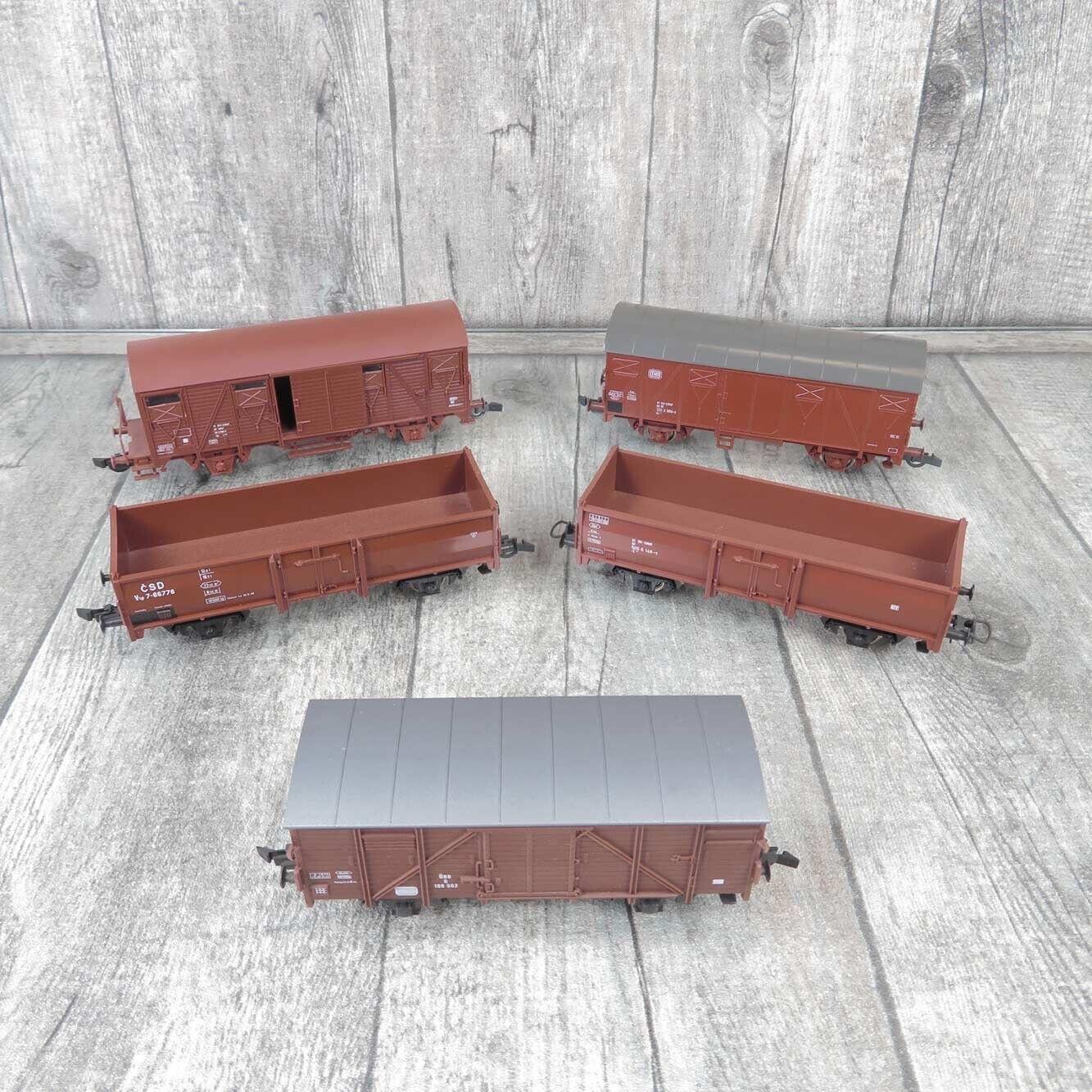 ROCO - H0 - 5 tlg. Konvolut - Güterwagen - SNCF, DB, ÖBB -  Aa25941