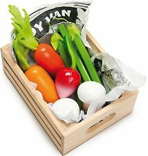 Le Toy Van Honeybake Harvest Vegetables Wooden Food Shopping Playset Kids BNIB