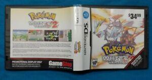 Pokemon-White-2-Version-Nintendo-DS-Promo-Case-Cover-Art-Only-NO-GAME