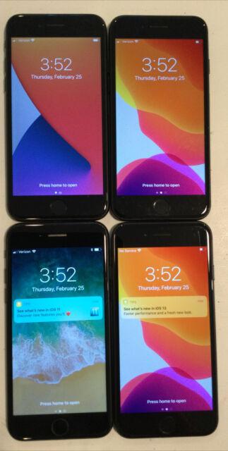 FOUR TESTED CDMA + GSM UNLOCKED VERIZON APPLE iPhone 7, 32GB A1660 PHONES L180P
