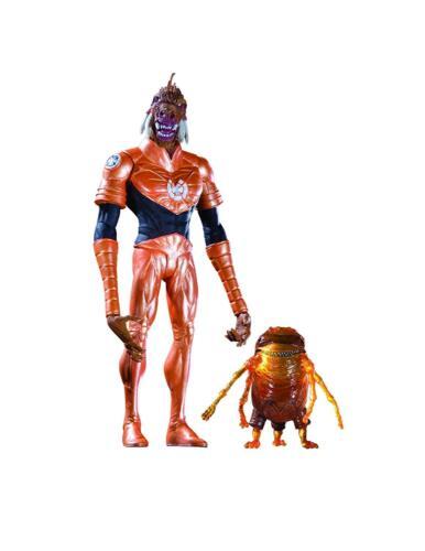 DC Direct Blackest Night series 3 Orange Lantern Larfleeze Action Figure