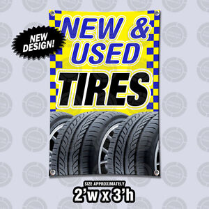 Cheap Used Tires Near Me >> Details About New Used Tires Banner Open Sign Tire Sale Discount Retail Dealer Wheel Shop