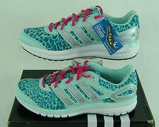 New Womens 9.5 ADIDAS Duramo 6 Mint Teal Cheetah Running Shoes $100 C76271