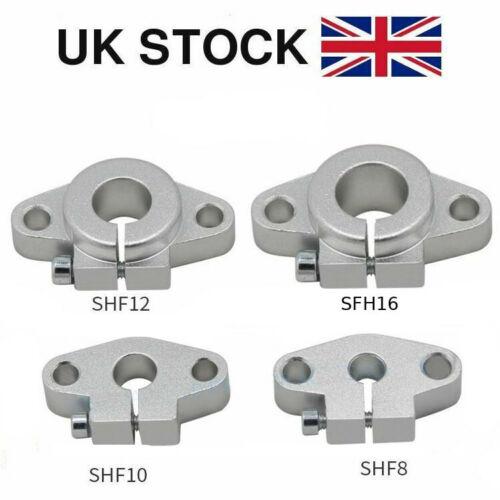 SHF8 SHF10 SHF12 SHF16 SHF20 Linear Rail Shaft Bar Bearing Support CNC 3D Printe