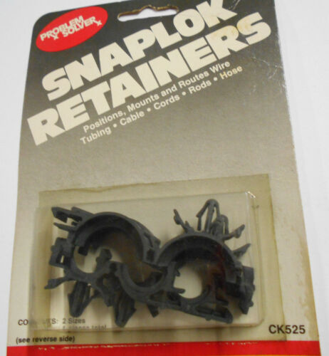 Problem Solver Universal 1//2/'/' /& 3//4/'/' Wire /& Cable Retainers Snaplok Retainer