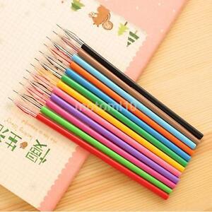 12PCS Korea Creative Stationery 0.35mm Candy Color Slim Gel Pen Ink Marker Pen