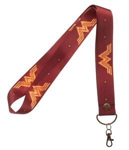 Wonder Woman Justice League Wide Trading Pin Lanyard ID Holder