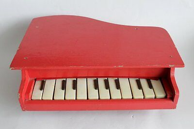 Vintage Bulgarian Piano Wooden Toy 12 Keys 1960's