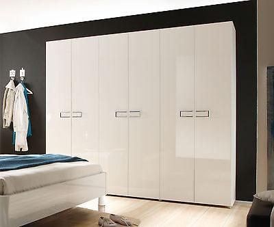 Kleiderschrank Schlafzimmer Schrank Weiss Hochglanz Lack Aus Italien Livela