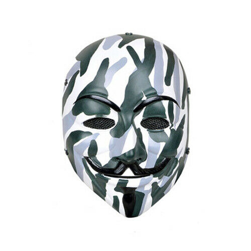 V for Vendetta Guy Fawkes Anonymous Airsoft Face Protection Mask Paintball Mask
