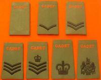 Army Cadet Force Rank Slides ACF CCF Olive Green Rank Slide ACF Rank Slides CCF