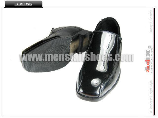 Zapatos de con esmoquin aumentar altura con de tacones oculto para el novio, 3