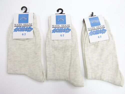 MS Adults Light Grey Ash Ankle socks 4 pack pair cotton Blend size 4-7