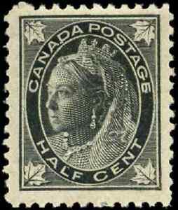 Canada-66-mint-F-VF-OG-H-1897-Queen-Victoria-1-2c-black-Maple-Leaf-CV-13-00