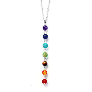 7-Chakra-Healing-Balance-Beaded-Pretty-Necklace-Natural-Stone-Yoga-Reiki-Prayer