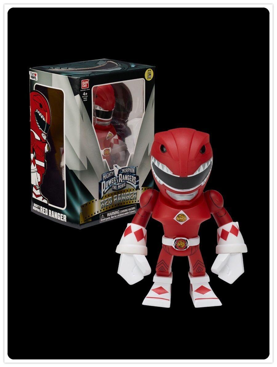 Bandai Power Rangers Movie RED RANGER Tokyo Vinyl 2016 SDCC COMIC CON Exclusive