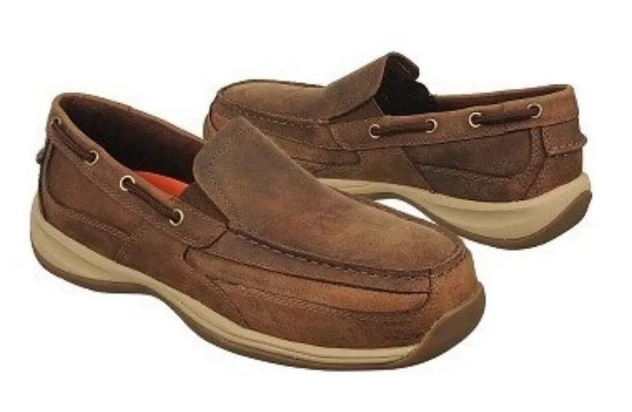 Rockport Works RK6737 Sailing Club Steel Toe Slip-On Men's Boat shoes.