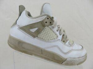 the best attitude cc95d e6317 Details about NIKE Air Jordan 4 IV Retro White Sz 3y Kids Basketball Shoes