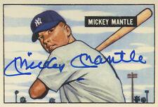 Mickey Mantle Autographed 1951 Bowman Baseball Card    REPRINT