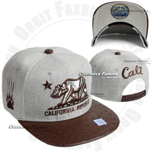 Casquette de baseball California CALI Bear Republic Snapback Chapeaux Plat Bill brodé