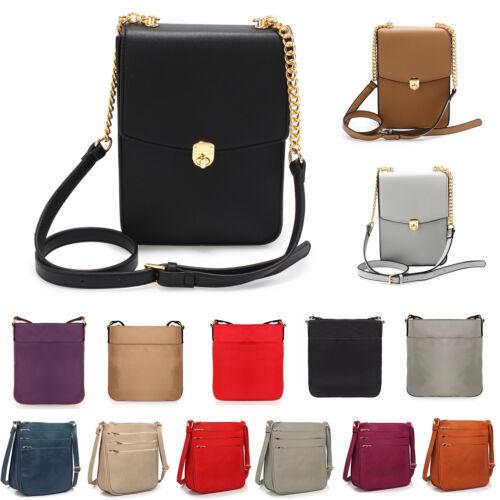 Ladies Cross Body Bags Womens Messenger Shoulder Faux Leather Crossbody Designer