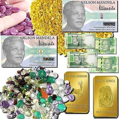 NELSON MANDELA S. AFRICA ESTATE SALE GOLD SILVER RUBIES GEMS RARE BANKNOTES MORE