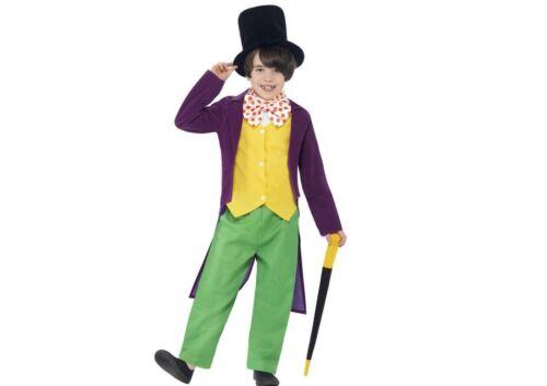 Bambini Roald Dahl Willy Wonka Costume fabbrica di cioccolato LIBRO giorno