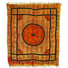 Tagesdecke orange Baumwolle schwarze Elefanten Überwurf indische Decke Vorhang