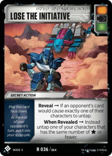 Transformers TCG 3X LOSE THE INITIATIVE Rare R 036//064 Wave 5 Playset Titan