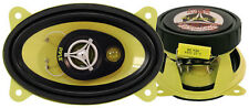 """4"""" x 6"""" inch Car Audio Stereo 3-Way Speakers w/ Yellow Poly Injected Cones"""