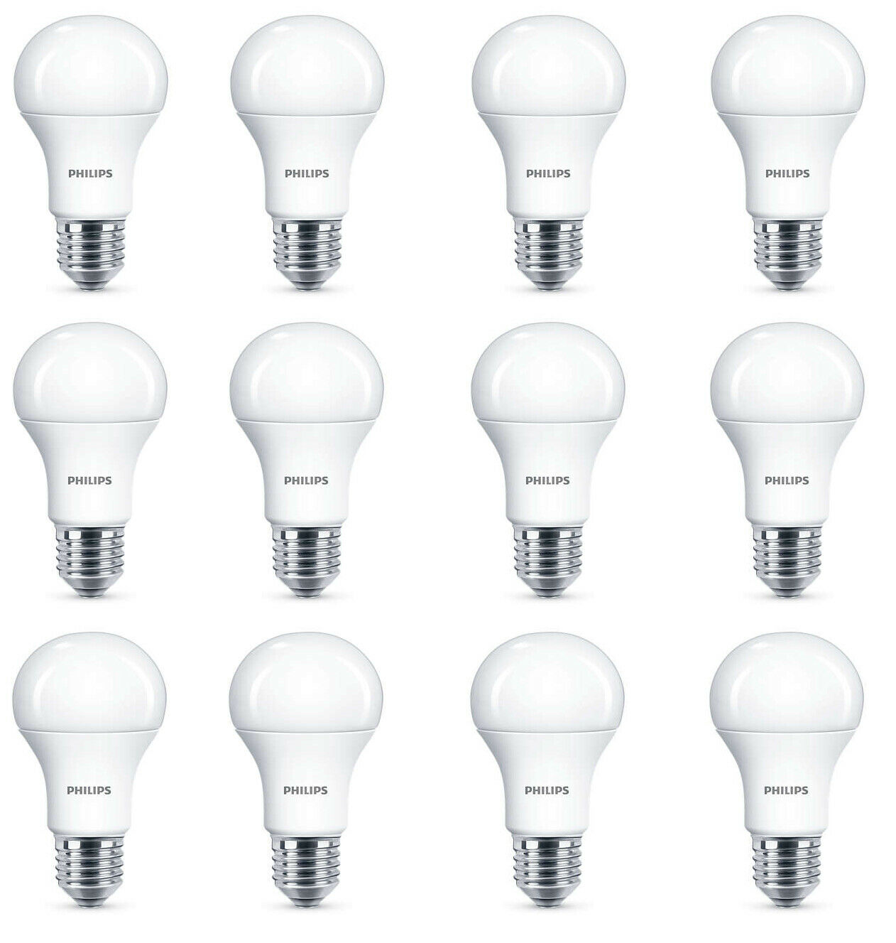 12 x Philips LED Frosted E27 Edison Screw 100w Warm Weiß Light Bulb Lamp 1521lm