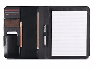 "Samsonite Peyton Leather Writing Pad with 8.5"" x 11"" Premium Paper  - New"