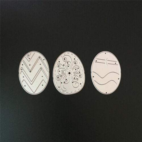 3pcs Craft Metal Cutting Dies Mold Lace Background Frame Scrapbook Paper L