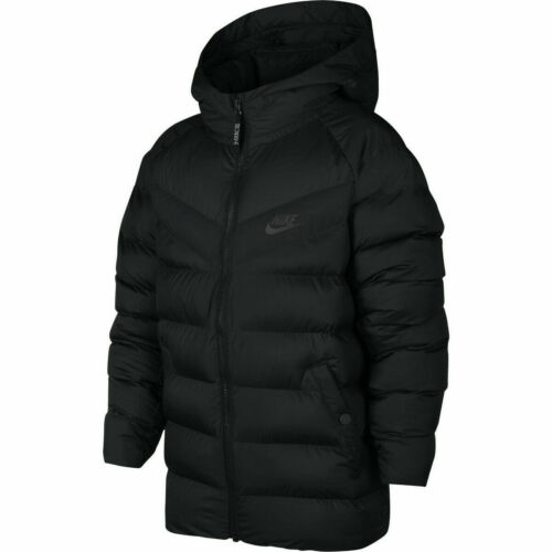 NWT YOUTH NIKE Sportswear Down Insulated Synthetic Fill Jacket Black SIZE SMALL